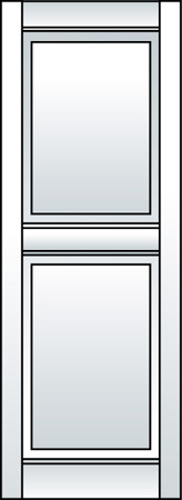 G1 - Two Panel (Straight Top)