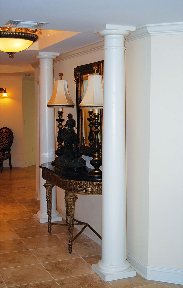 Round Tapered Columns