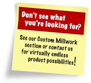 See our custom millwork