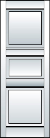 J2 - Three Panel (Smaller Middle Panel)