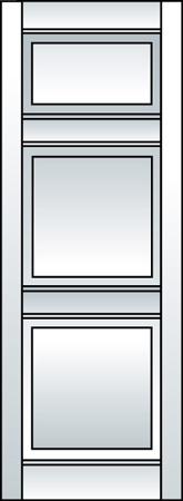 J3 - Three Panel (Smaller Top Panel)