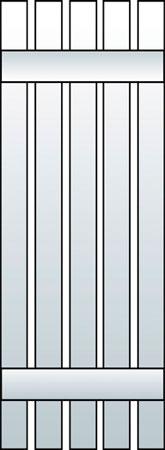 L1-S5 - Board & Batten, Spaced (5 Boards)