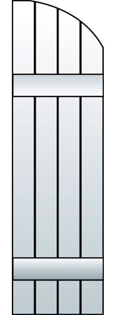 M2-J4 - Board & Batten, Joined Arch (4 Boards)