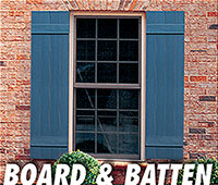 Valor Specialty Products Inc. - Board and Batten shutters