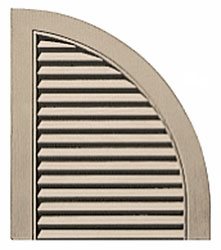 Quarter Round Top - Louver