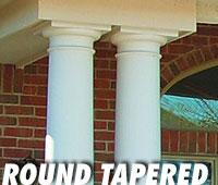 Valor Fiberglass round tapered columns