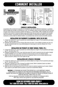 Shutter Installation Instructions
