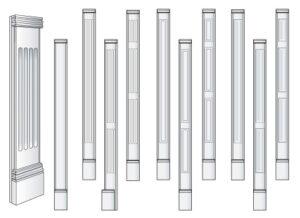 adjustable pilaster kits
