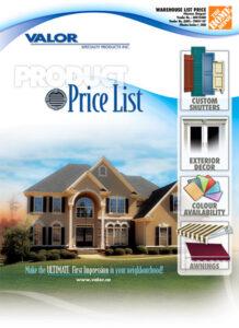 Valor Home Depot Price List